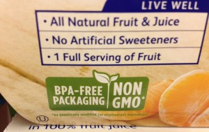 Natural and non-GMO on packaging